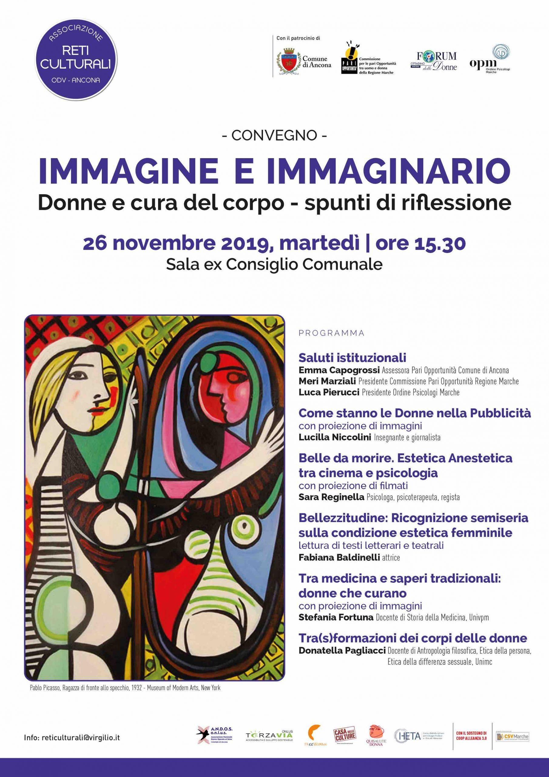 """""""Immagine e immaginario. Donne e cura del corpo"""". Convegno con Sara Reginella, Fabiana Baldinelli, Stefania Fortuna e Donatella Pagliacci"""