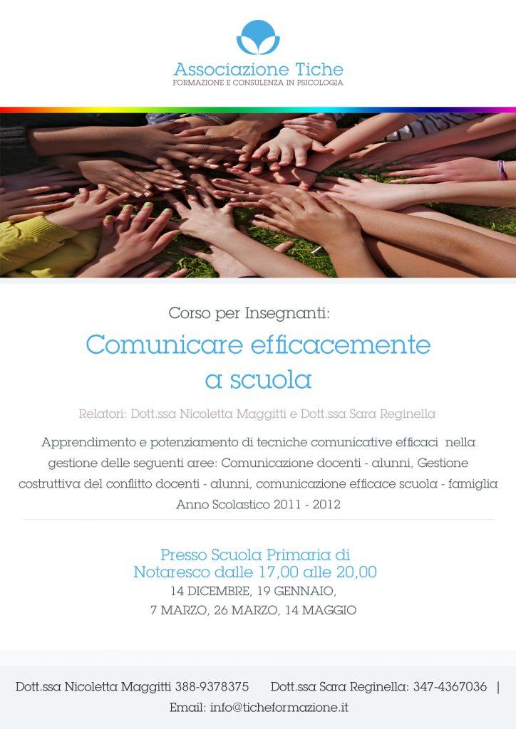 Corso per Insegnanti   La comunicazione efficace a scuola Dott.ssa Sara Reginella