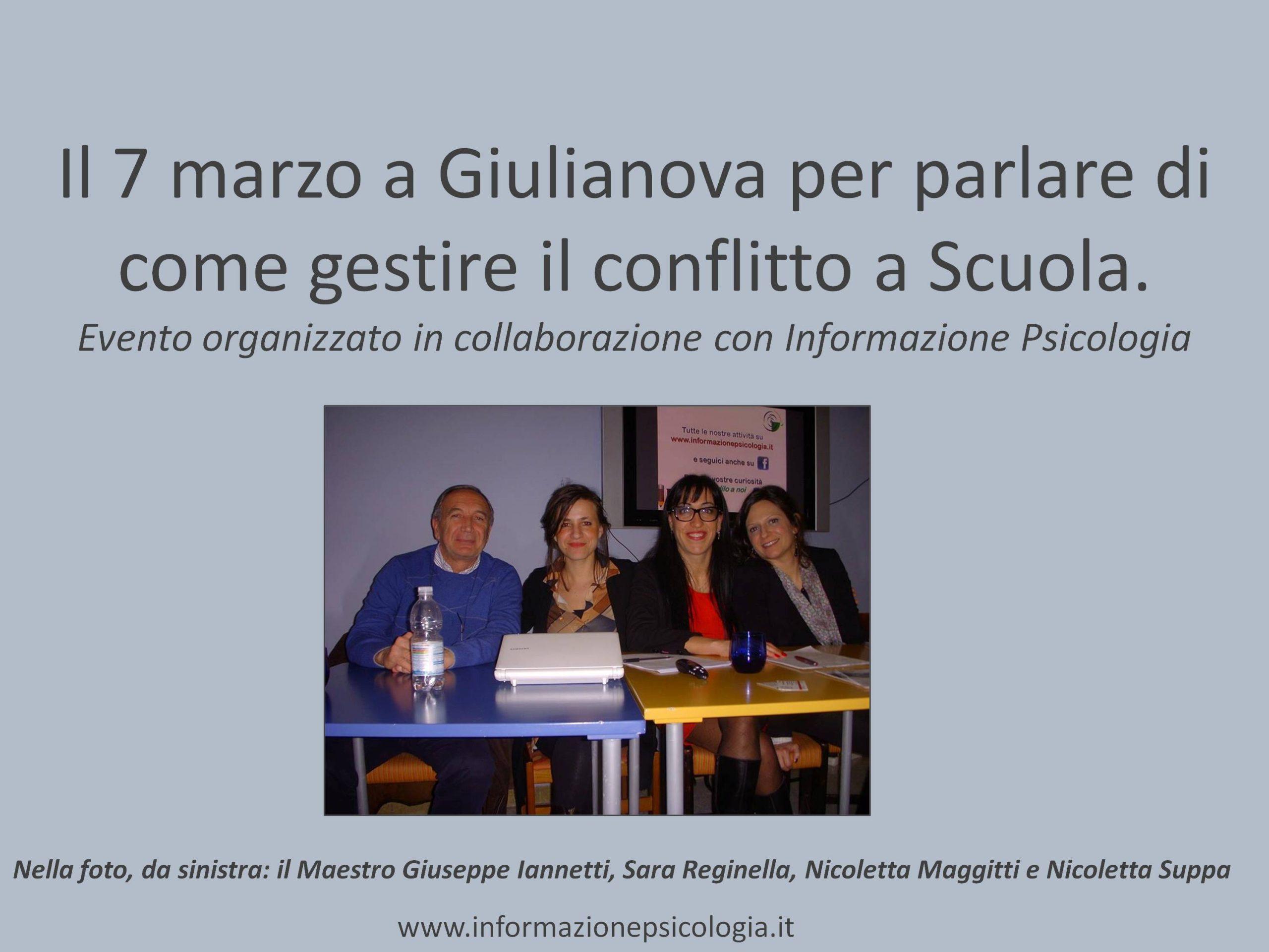A Giulianova, Seminario sul conflitto a Scuola
