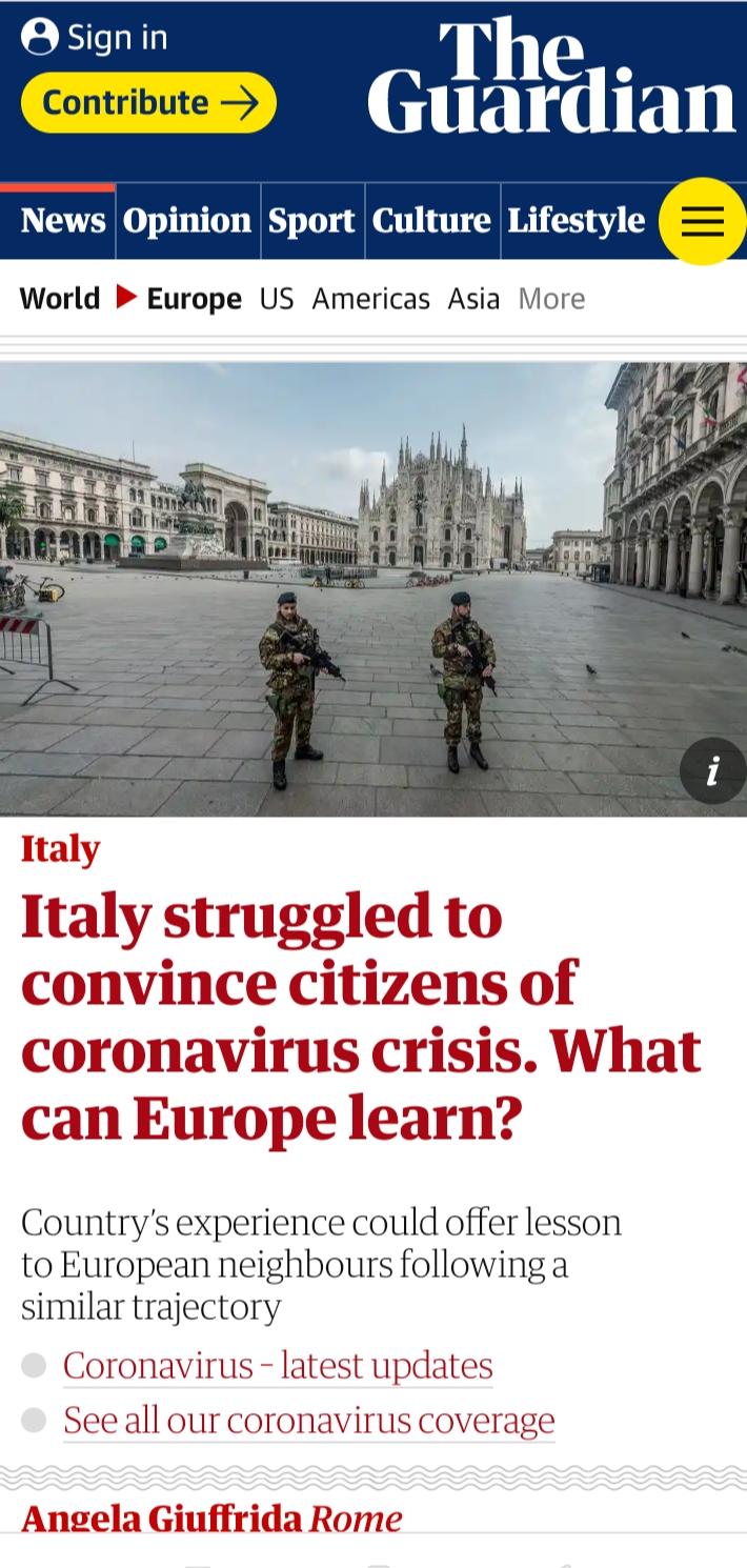 Intervista di Sara Reginella per The Guardian