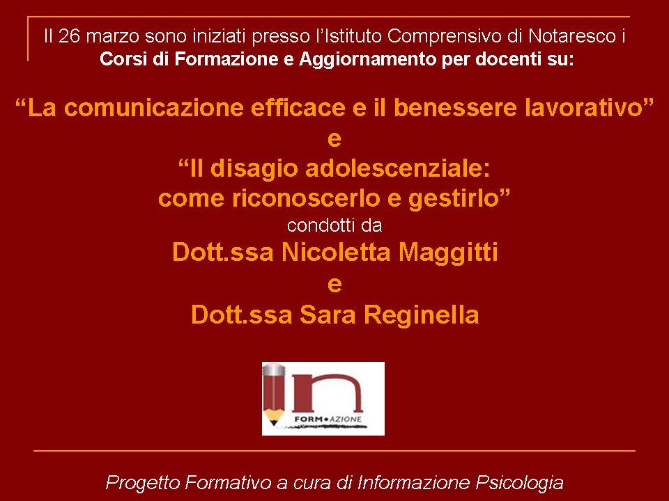 26/03/13 Iniziati i Corsi di Formazione per Docenti presso Istituto di Notaresco