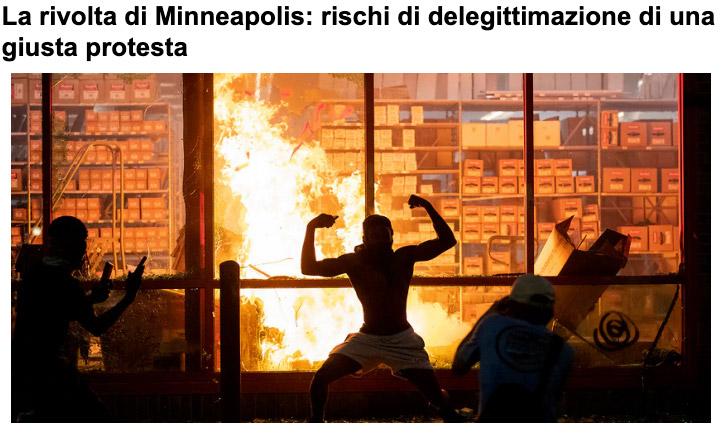 Riflessioni psicologiche sulla rivolta di Minneapolis