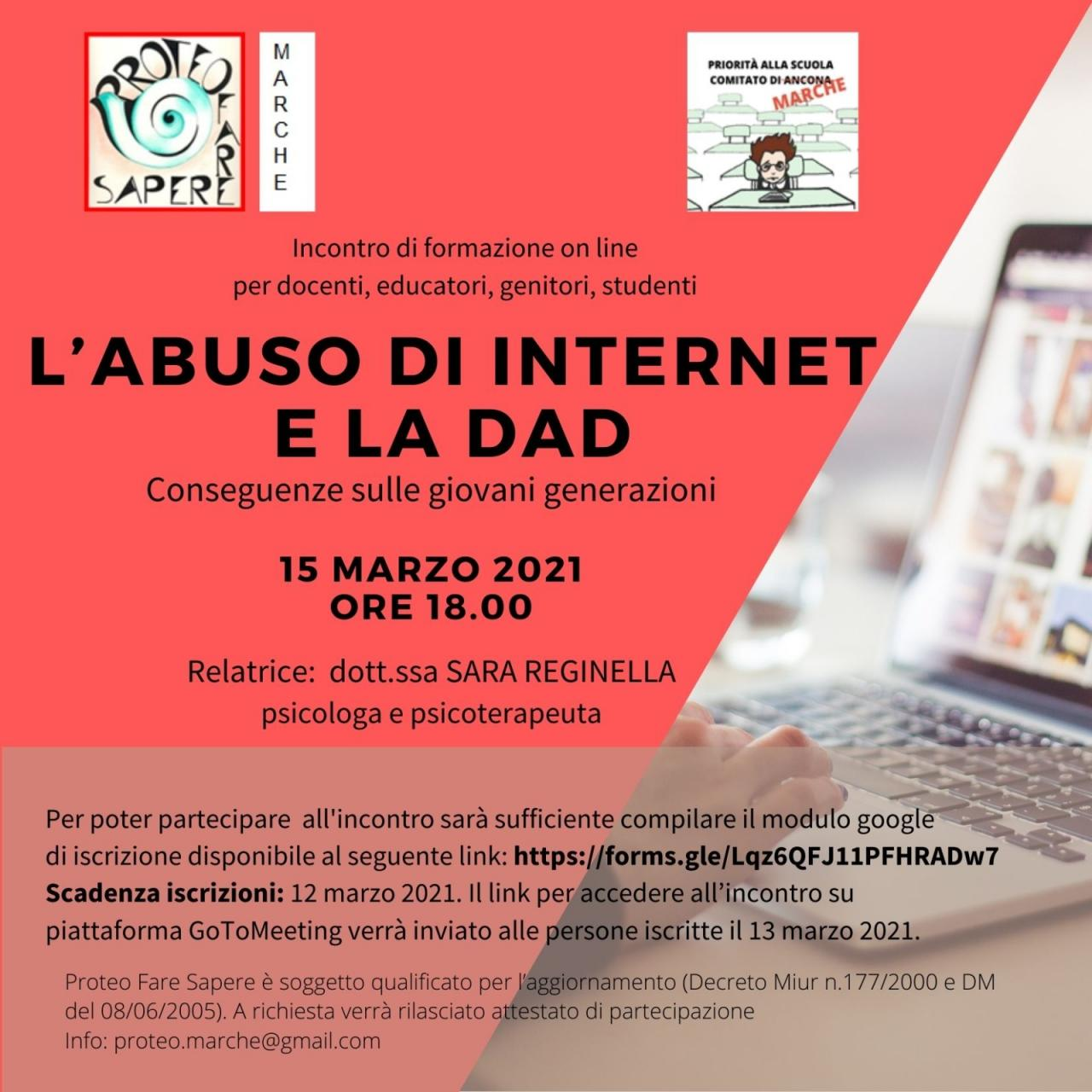 L'abuso di internet e la DAD